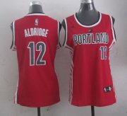Wholesale Cheap Portland Trail Blazers #12 LaMarcus Aldridge 2014 New Red Womens Jersey
