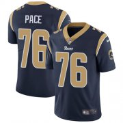 Wholesale Cheap Nike Rams #76 Orlando Pace Navy Blue Team Color Men's Stitched NFL Vapor Untouchable Limited Jersey