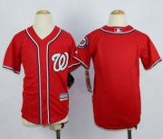 Wholesale Cheap Nationals Blank Red Cool Base Stitched Youth MLB Jersey