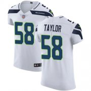 Wholesale Cheap Nike Seahawks #58 Darrell Taylor White Men's Stitched NFL New Elite Jersey