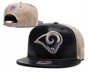 Wholesale Cheap NFL Los Rams Team Logo Navy Adjustable Hat YD