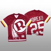 Wholesale Cheap NFL Washington Redskins #25 Fabian Moreau Red Men's Mitchell & Nell Big Face Fashion Limited NFL Jersey