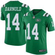 Wholesale Cheap Nike Jets #14 Sam Darnold Green Youth Stitched NFL Limited Rush Jersey