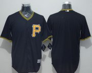 Wholesale Cheap Pirates Blank Black New Cool Base Stitched MLB Jersey