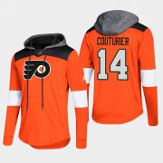 Wholesale Cheap Flyers #14 Sean Couturier Orange 2018 Pullover Platinum Hoodie