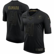 Cheap New Orleans Saints #41 Alvin Kamara Nike 2020 Salute To Service Limited Jersey Black