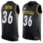 Wholesale Cheap Nike Steelers #36 Jerome Bettis Black Team Color Men's Stitched NFL Limited Tank Top Jersey