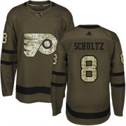 Wholesale Cheap Adidas Flyers #8 Dave Schultz Green Salute to Service Stitched Youth NHL Jersey