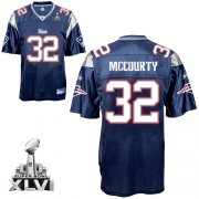 Wholesale Cheap Patriots #32 Devin McCourty Dark Blue Super Bowl XLVI Embroidered NFL Jersey