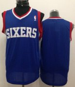 Wholesale Cheap Philadelphia 76ers Blank Blue Swingman Jersey