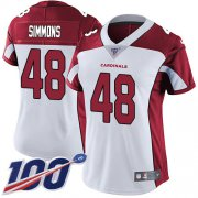 Wholesale Cheap Nike Cardinals #48 Isaiah Simmons White Women's Stitched NFL 100th Season Vapor Untouchable Limited Jersey