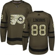 Wholesale Cheap Adidas Flyers #88 Eric Lindros Green Salute to Service Stitched NHL Jersey