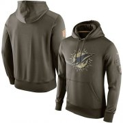 Wholesale Cheap Men's Miami Dolphins Nike Olive Salute To Service KO Performance Hoodie