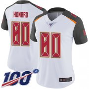 Wholesale Cheap Nike Buccaneers #80 O. J. Howard White Women's Stitched NFL 100th Season Vapor Limited Jersey