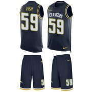 Wholesale Cheap Nike Chargers #59 Nick Vigil Navy Blue Team Color Men's Stitched NFL Limited Tank Top Suit Jersey