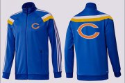 Wholesale NFL Chicago Bears Team Logo Jacket Blue_2