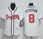 Wholesale Cheap Braves #8 Jace Peterson White Flexbase Authentic Collection Stitched MLB Jersey