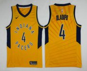 Wholesale Cheap Men's Indiana Pacers #4 Victor Oladipo New Yellow 2017-2018 Nike Swingman Stitched NBA Jersey