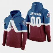 Wholesale Cheap Adidas Colorado Avalanche Custom Men's Burgundy 2020 Stadium Series Hoodie