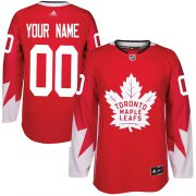 Wholesale Cheap Men's Adidas Maple Leafs Personalized Authentic Red Alternate NHL Jersey