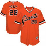 Wholesale Cheap Giants #28 Buster Posey Orange 1978 Turn Back The Clock Stitched MLB Jersey