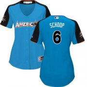 Wholesale Cheap Orioles #6 Jonathan Schoop Blue 2017 All-Star American League Women's Stitched MLB Jersey