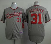 Wholesale Cheap Nationals #31 Max Scherzer Grey Cool Base Stitched MLB Jersey