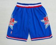 Wholesale Cheap 1992 All-Star Blue Hardwood Classics Swingman Shorts