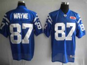 Wholesale Cheap Colts #87 Reggie Wayne Blue With Super Bowl Patch Stitched NFL Jersey