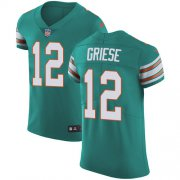 Wholesale Cheap Nike Dolphins #12 Bob Griese Aqua Green Alternate Men's Stitched NFL Vapor Untouchable Elite Jersey