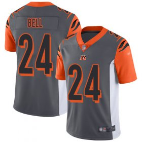 Wholesale Cheap Nike Bengals #24 Vonn Bell Silver Men\'s Stitched NFL Limited Inverted Legend Jersey