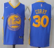Wholesale Cheap Men's Golden State Warriors #30 Stephen Curry Royal Blue 2017-2018 Nike Swingman Stitched NBA Jersey