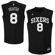 Wholesale Cheap Philadelphia 76ers #8 Jahlil Okafor Black Fashion Replica Jersey