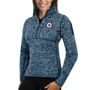 Wholesale Cheap Winnipeg Jets Antigua Women's Fortune 1/2-Zip Pullover Sweater Royal
