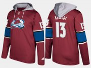 Wholesale Cheap Avalanche #13 Alexander Kerfoot Burgundy Name And Number Hoodie