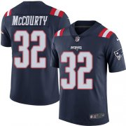 Wholesale Cheap Nike Patriots #32 Devin McCourty Navy Blue Youth Stitched NFL Limited Rush Jersey