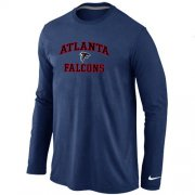 Wholesale Cheap Nike Atlanta Falcons Heart & Soul Long Sleeve T-Shirt Dark Blue