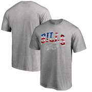 Wholesale Cheap Men's Buffalo Bills Pro Line by Fanatics Branded Heathered Gray Banner Wave T-Shirt