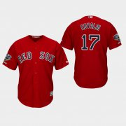 Wholesale Cheap Red Sox #17 Nathan Eovaldi Red New Cool Base 2018 World Series Stitched MLB Jersey
