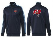 Wholesale Cheap NFL Tampa Bay Buccaneers Team Logo Jacket Dark Blue