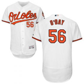 Wholesale Cheap Orioles #56 Darren O\'Day White Flexbase Authentic Collection Stitched MLB Jersey