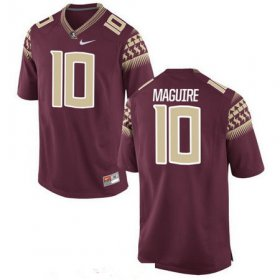 Wholesale Cheap Men\'s Florida State Seminoles #10 Sean Maguire Red Stitched College Football 2016 Nike NCAA Jersey