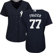 Wholesale Cheap New York Yankees #77 Clint Frazier Navy Majestic Women's Cool Base Stitched MLB Jersey