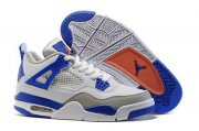 Wholesale Cheap Air Jordan 4 Retro Shoes White/Blue Orange