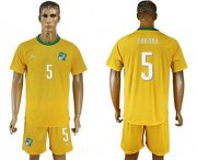 Wholesale Cheap Cote d'lvoire #5 Zokora Home Soccer Country Jersey
