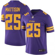 Wholesale Cheap Nike Vikings #25 Alexander Mattison Purple Men's Stitched NFL Limited Rush Jersey