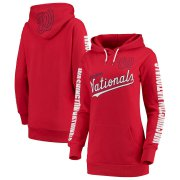 Wholesale Cheap Washington Nationals G-III 4Her by Carl Banks Women's Extra Innings Pullover Hoodie Red