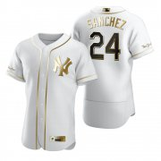 Wholesale Cheap New York Yankees #24 Gary Sanchez White Nike Men's Authentic Golden Edition MLB Jersey