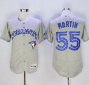 Wholesale Cheap Blue Jays #55 Russell Martin Grey Flexbase Authentic Collection Stitched MLB Jersey