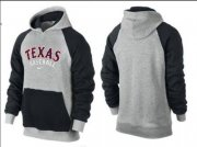 Wholesale Cheap Texas Rangers Pullover Hoodie Grey & Black